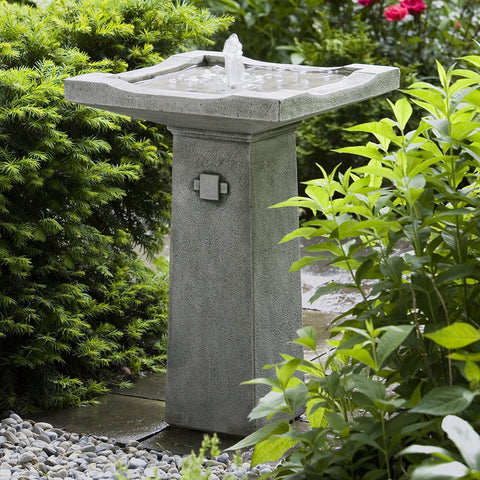 Pagoda Stone Fountain - Dark Grey Patina