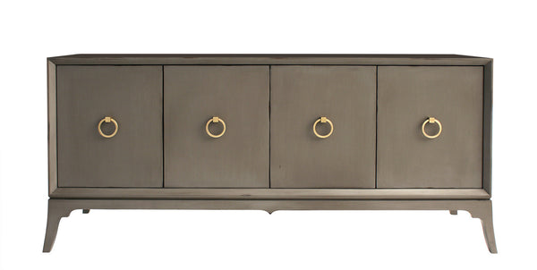 Furniture - Bennett Entertainment Media Console - Shell Grey ( 28 Finish & 3 Hardware Options )