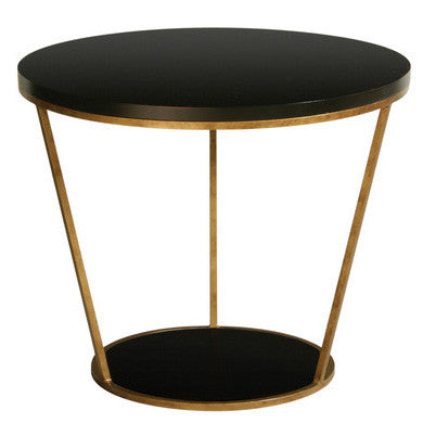 Furniture - Blair Round Side Table - Black (See More Finish Options)