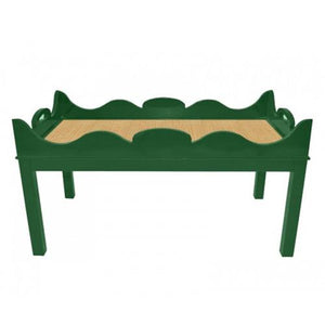 Charleston Lacquer Coffee Table - Green (Additional Colors Available)