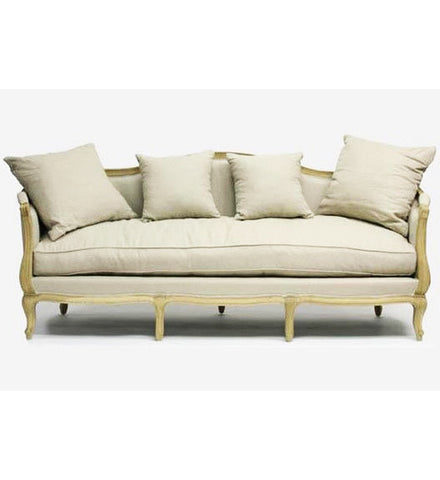 Furniture - Chateau French Style Sofa - Natural Linen
