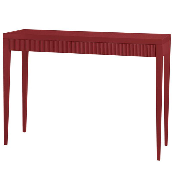Furniture - Chatham North Lacquer Console Table - Bolero Red (16 Colors Available)