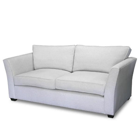 Relaxed Flair Arm Sofa - White Linen (See Other Fabric Options)