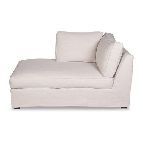 Furniture - Chelsea Slipcovered Flaired Arm Chaise Lounge-  Oatmeal Cream Linen