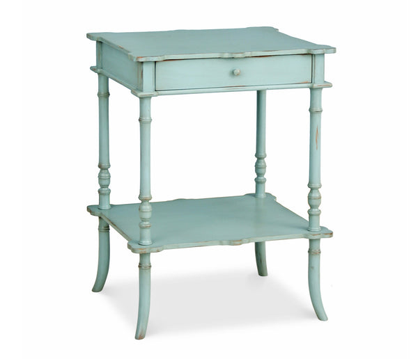 Furniture - Clover One-Drawer Side Table - Robin's Egg Blue ( 28 Finish Options )