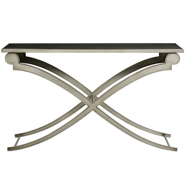 Furniture - Clyde Rectangle Console Table - Cashew & Black (See Other Finish Options)
