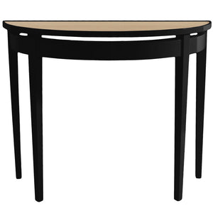 Furniture - Demilune Lacquer Console Table - Black (16 Colors Available)