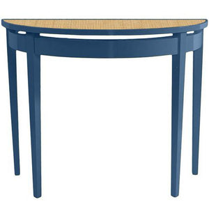 Furniture - Demilune Lacquer Console Table - Blue (16 Colors Available)