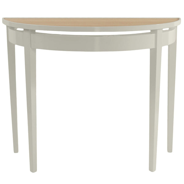 Furniture - Demilune Lacquer Console Table - Fawn Grey (16 Colors Available)