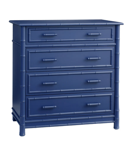 Furniture   Faux Bamboo Four Drawer Highboy Dresser   Blue ( 28 Finish  Options )