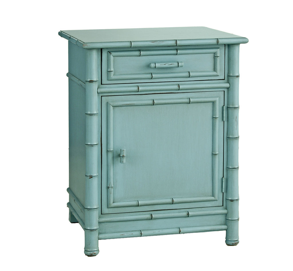 Exceptionnel Furniture   Faux Bamboo One Drawer Nightstand   Robinu0027s Egg Blue ( 28  Finish Options )