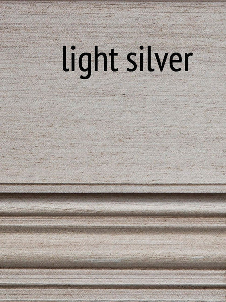 Furniture - Fiona 3 Drawer Nightstand- Light Silver ( 28 Finish & 3 Hardware Options )