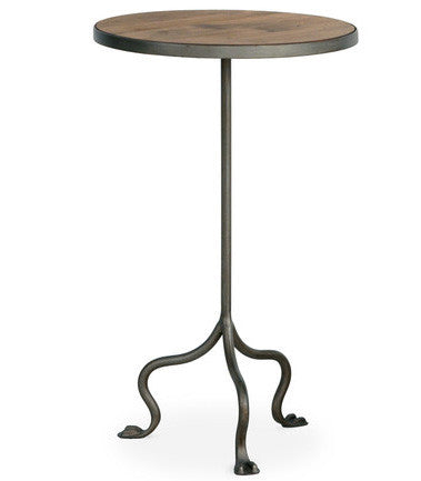 Furniture - Grace Round Side Table - Almond ( 28 Finish & 3 Frame Options )