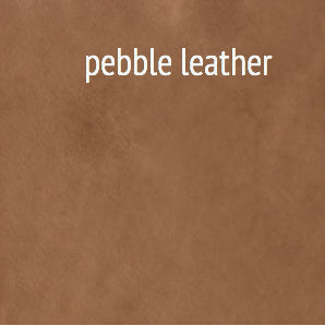 Furniture - Haven X Leather Bench - Black & Chocolate Brown (See More Finish & Fabric Options)