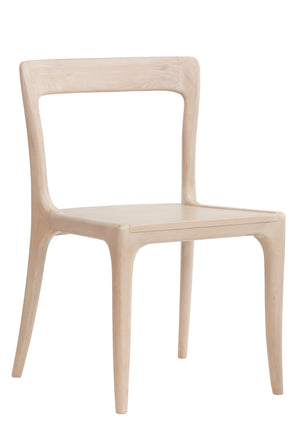 Furniture - James Armless Modern Dining Chair - Cashew ( 28 Finish Options )