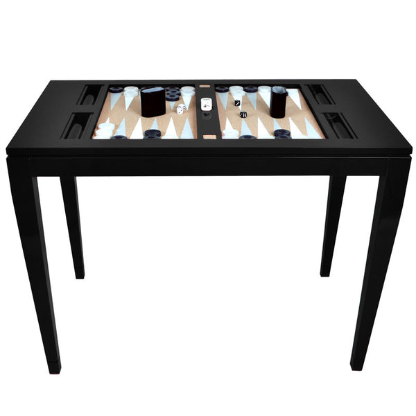 Furniture - Lacquer Backgammon Table - Black (16 Colors Available)