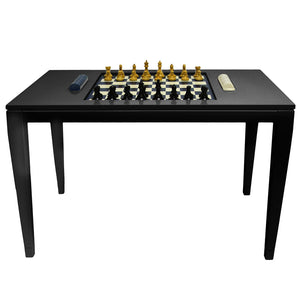 Furniture - Lacquer Chess & Checkers Table - Black (16 Colors Available)