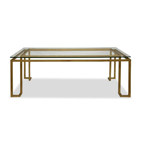 Linear Coffee Table - Gold Leaf (4 Finishes & 3 Top Options)