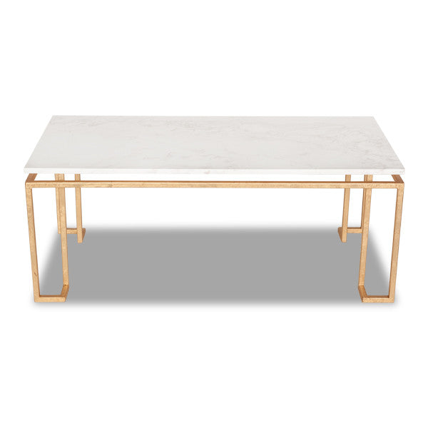Furniture - Linear Coffee Table - Gold Leaf (4 Finishes & 3 Top Options)