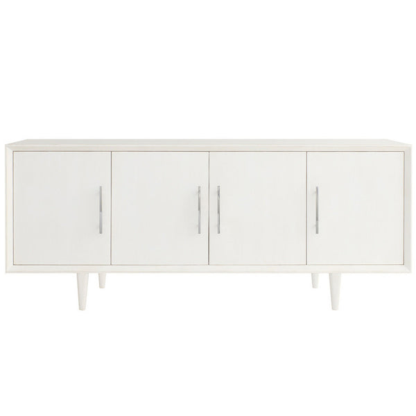 Furniture - London Entertainment Media Console - Raw White Cotton ( 28 Finish & 3 Hardware Options)