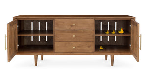 Furniture - London Three Drawer Entertainment Media Console - Almond ( 28 Finish & 3 Hardware Options )
