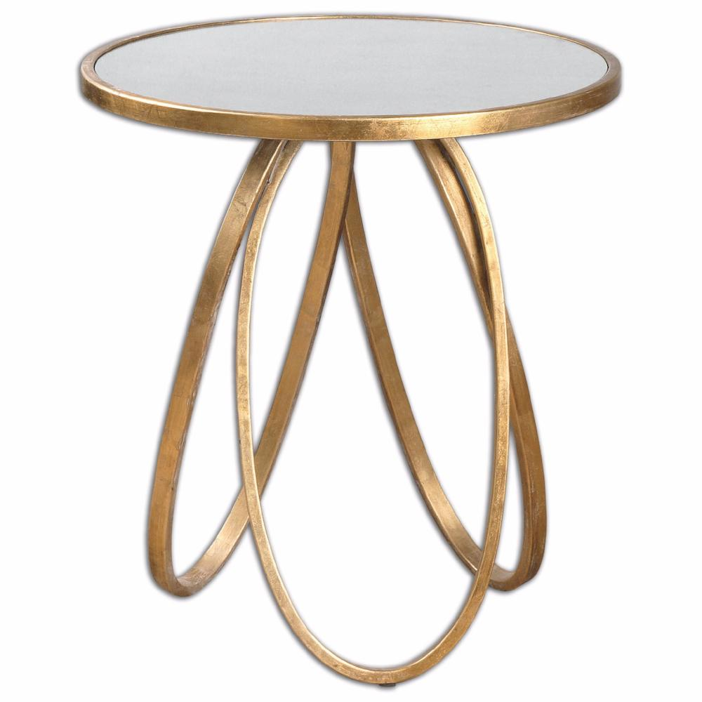 Furniture - Loops Modern Side Table - Gold