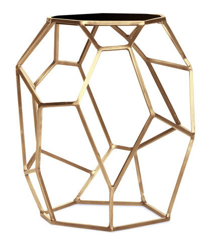 Furniture - Matrix Brass Side Table