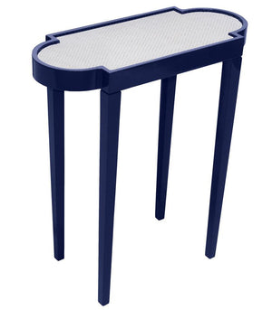 Furniture - Mini Rectangular Lacquer Side Table - Navy Blue (16 Colors Available)