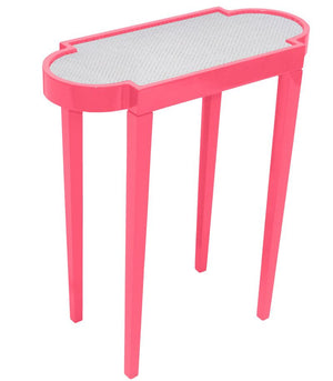 Furniture - Mini Rectangular Lacquer Side Table - Pink (16 Colors Available)