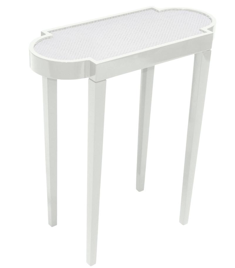Furniture   Mini Rectangular Lacquer Side Table   White (16 Colors  Available)