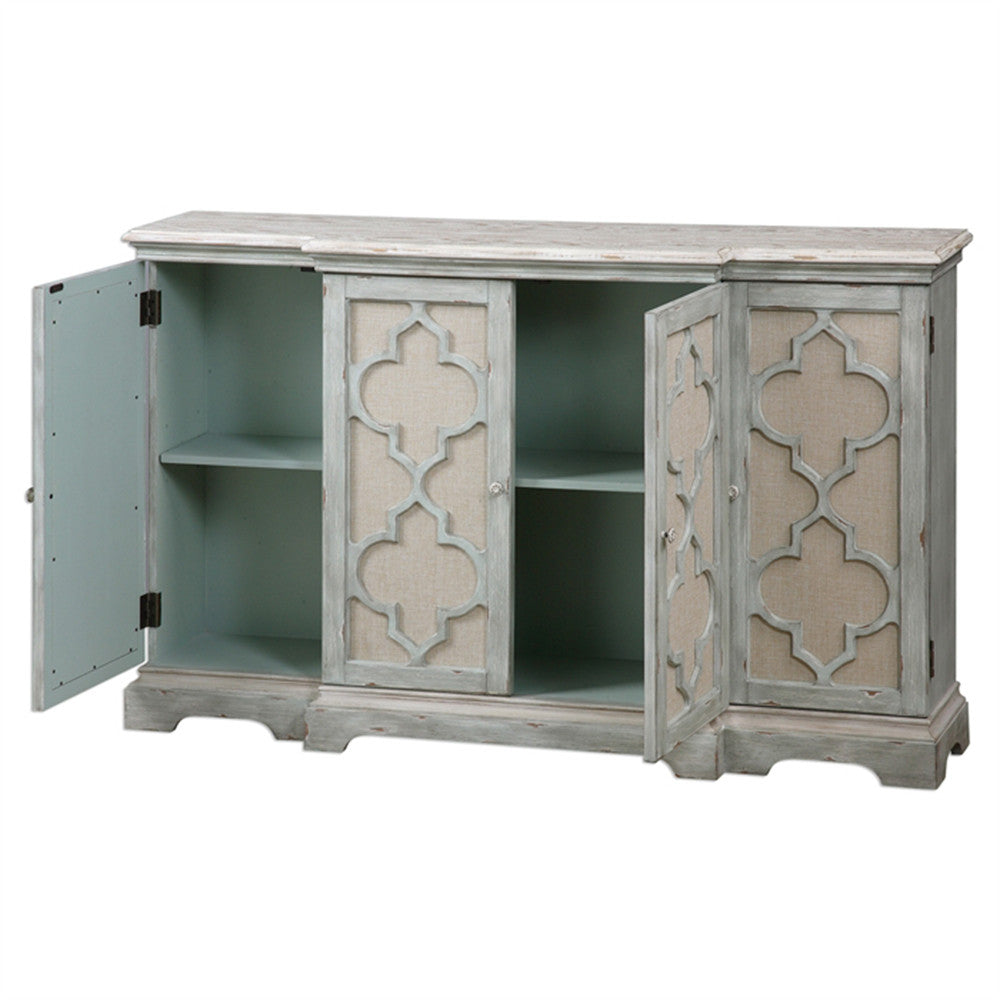 Sophie Moroccan Four Door Buffet Cabinet