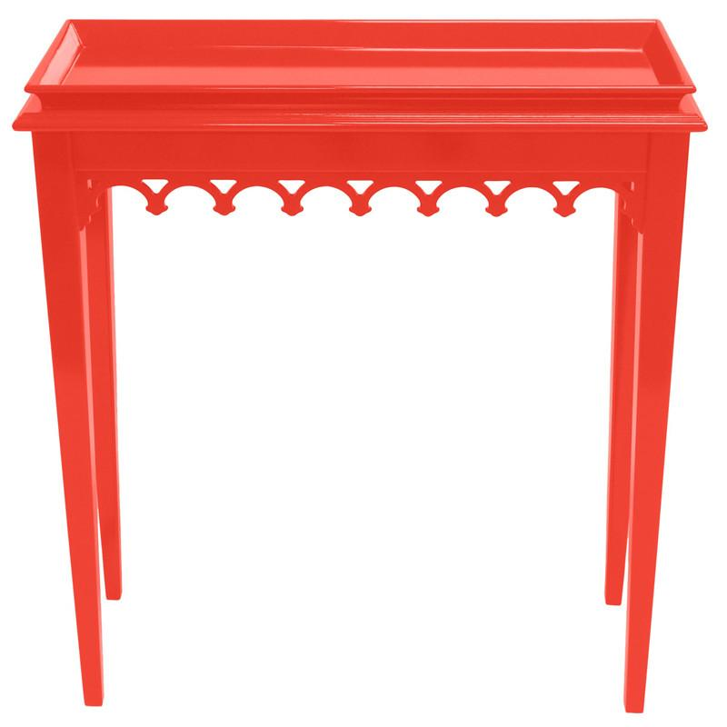 Newport Mini Lacquer Console Table Bright Red 16 colors