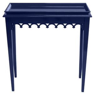Newport Mini Lacquer Console Table – Navy (Additional Colors Available)