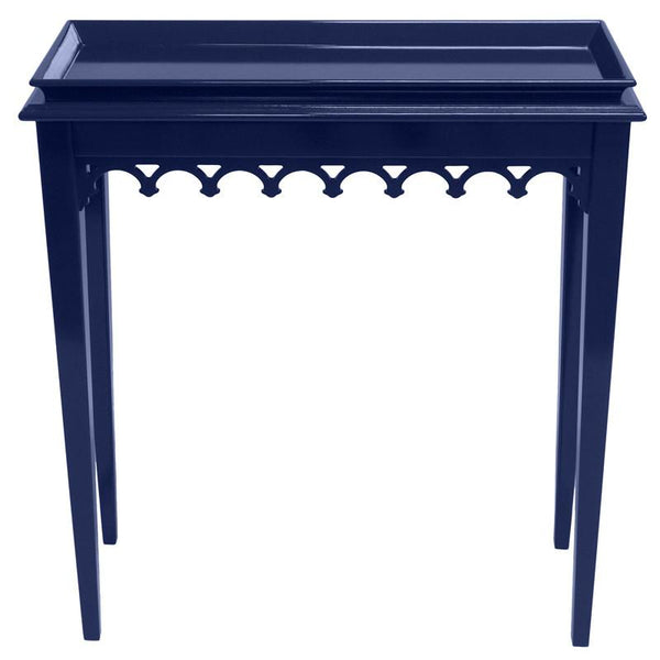 Furniture - Newport Mini Lacquer Console Table - Navy Blue (16 Colors Available)