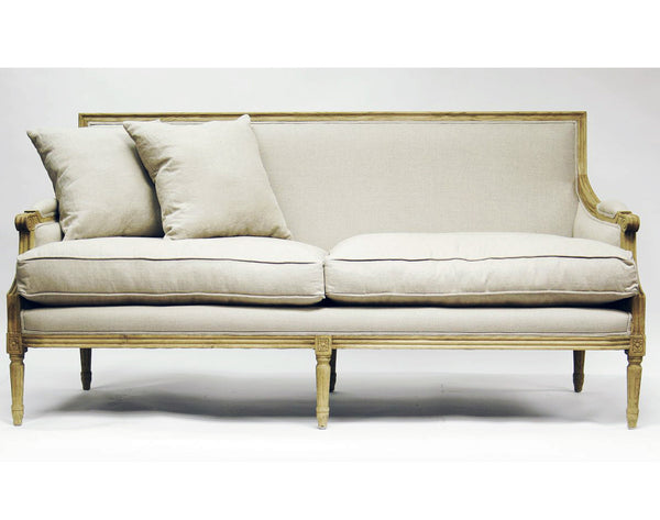 Furniture - Paris French Sofa - Natural Linen
