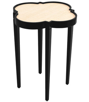 Furniture - Quatrefoil Lacquer Side Table - Black (16 Colors Available)