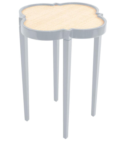 Furniture - Quatrefoil Lacquer Side Table - Light Blue (16 Colors Available)