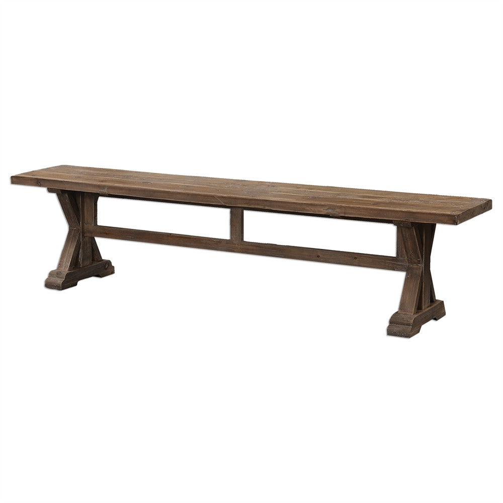Furniture - Reclaimed Wood Bench – Washed Finish