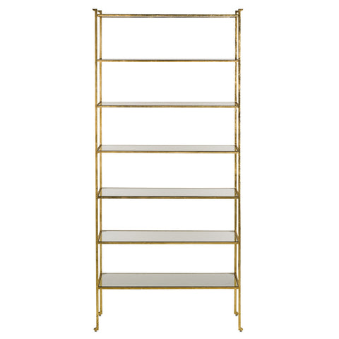 Furniture - Regency Tall Etagere — Gold Leaf