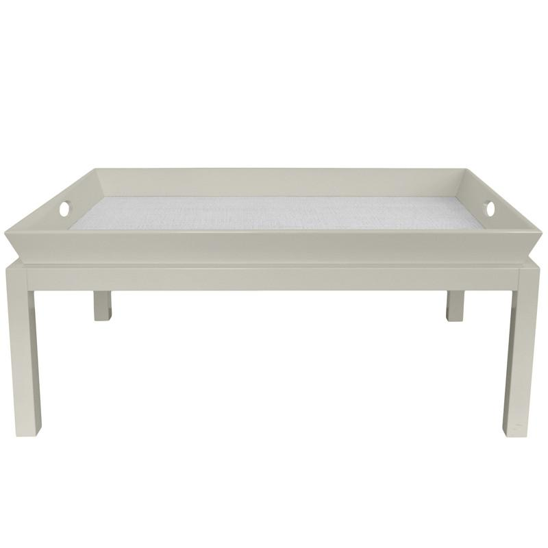 Rowayton Lacquer Coffee Table - Grey (Additional Colors Available)