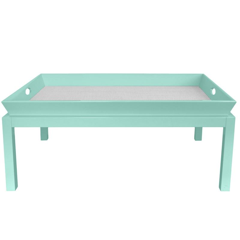 Rowayton Lacquer Coffee Table - Ocean Blue (Additional Colors Available)