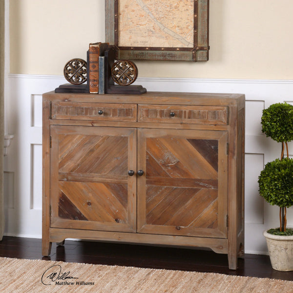 Furniture - Rustic Reclaimed Wood Console Cabinet