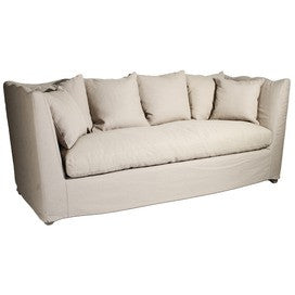 Furniture - Scalloped Frame Sofa - Natural Linen