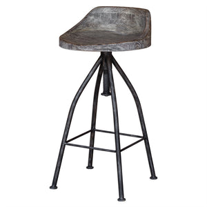 Furniture - Scoop Bar Stool – Iron