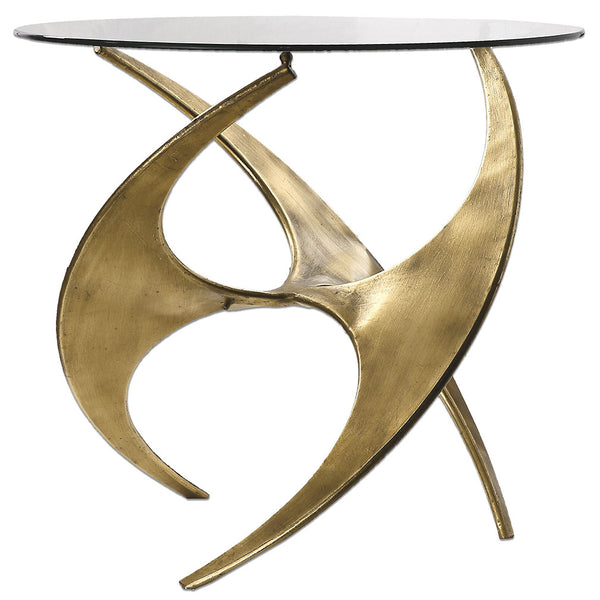 Furniture - Sculptural Side Table — Gold