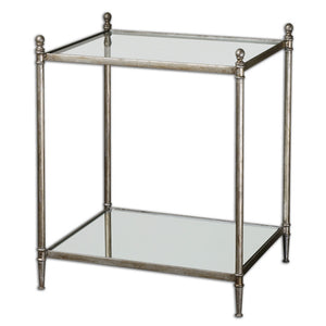 Furniture - Silver Leaf & Mirror Side Table