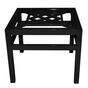 "Furniture - Southport 26"" Square Lacquer Side Table - Black (16 Colors Available)"