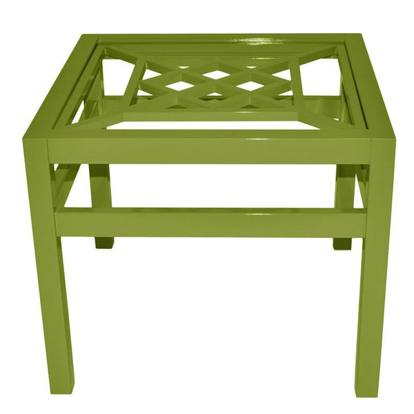 "Furniture - Southport 26"" Square Lacquer Side Table - Lime Green (16 Colors Available)"