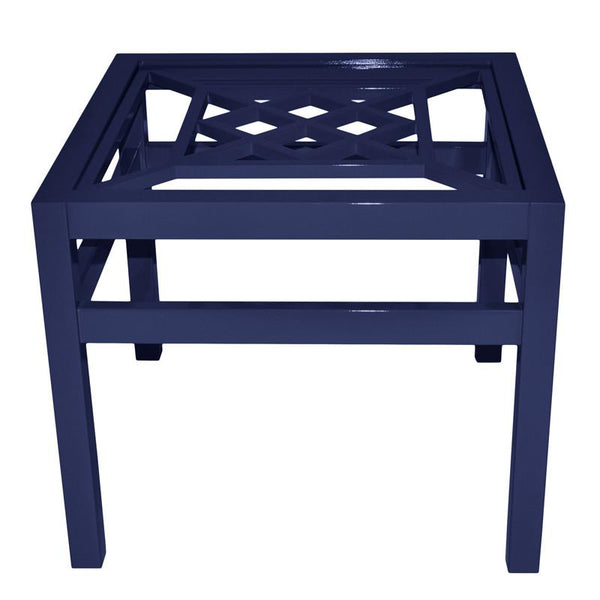 "Furniture - Southport 26"" Square Lacquer Side Table - Navy Blue (16 Colors Available)"
