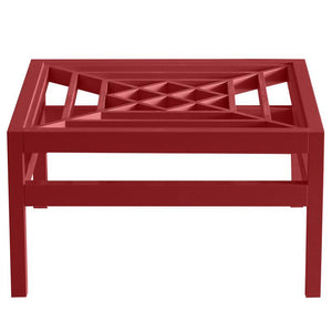 "Southport 36"" Square Lacquer Coffee Table - Red (Additional Colors Available)"